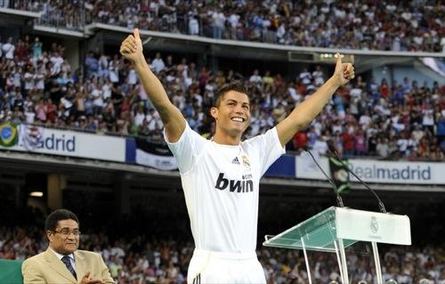 Cristiano Ronaldo el día de su presentación con el Real Madrid